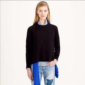 J. CREW hi-lo side slit merino wool sweater